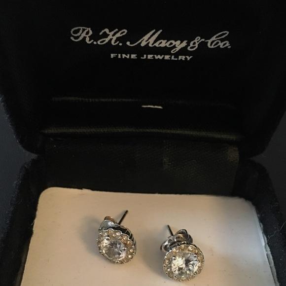e1c3b037f Macy's Jewelry | New Diamond Studs 110 Ct Tw Sterling Silver | Poshmark